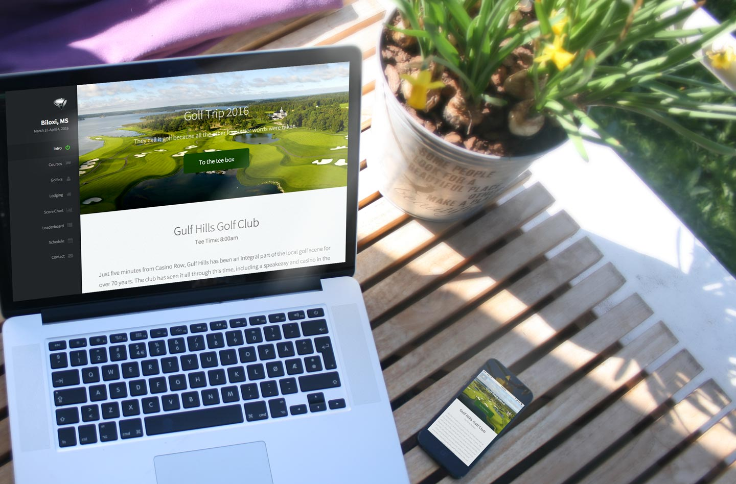 Golf Website and Mobile site